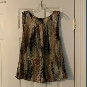 Silky Feeling Tank Top in Brown Colors Size M